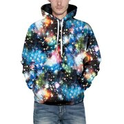 Men's Unique Red Lips Printing Hoodies with Pocket Pullovers Sweatshirt