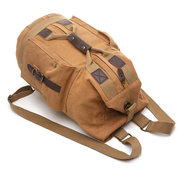 Men Canvas Shoulder Bags Casual Large Capacity  Sports Travel Handbag Backpacks