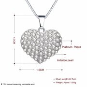 Sweet Heart Necklace Alloy Pearl Heart Necklace for Women Gift