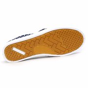 Stripe Canvas Color Match Classic Slip On Flat Casual Shoes