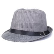 Men Women Hollow Out Mesh Top Hat Casual Braid Fedora Beach Sun Flax Panama Jazz Hat