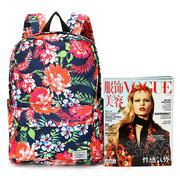 Женщины Холст Повседневный Цветок печати Рюкзак Путешествия Шоппинг Школьные сумки