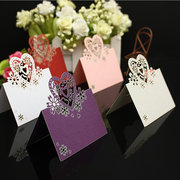 50pcs Love Heart Laser Cut Cards For Wedding Party Table Name Place Decor Favor