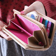 Women PU Leather Quilting Long Wallet Bowknot Card Holder Casual Clutch