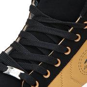 Men Color Match Stripe Korean Style Lace Up High Top Casual Shoes