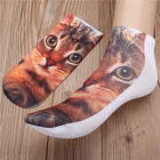 Men Women Casual Low Cut Ankle Socks Cotton 3D Printed Animals Socks