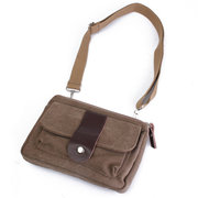Men Casual Canvas Small Outdoor Sport Waist Bag Cards Phone Bags
