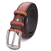 Male 140cm Genuine Cowhide Leather Extended Long Pin Buckle Belts