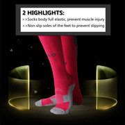 Mens Sports Football Long Socks Leg Ankle Protecting Breathable Anti-friction Stockings