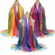 Женщины Хлопок богемный стиль шарфы палантина обруча шали шарф