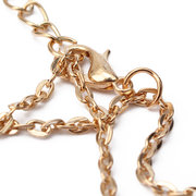 Double Chain Gold Silver Heart Pipe Necklace