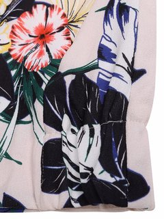 Women Casual Floral Print Stand Collar Jacket