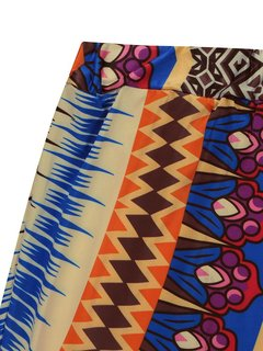 Bohemia Ethnic Print Elastic Waist Long Maxi Women Beach Skirt