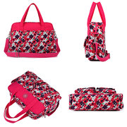 Women Nylon Floral Handbag Multi-functional and durable large-capacity mother-baby package Mummy bag