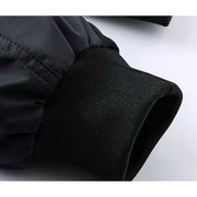 Autumn Winter Casual Stitching Waterproof Rib Cuff Thick Jacket for Men