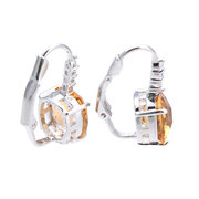 18K Gold Plated 3A Cubic Zircon Square Earrings