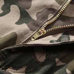 Casual Loose Camouflage Cotton Cargo Pants Outdoor Straight Long Trousers For Men