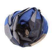Men Women Classical Lattice Stirped Colored Interval Scarves Plaid Tassel Wraps Pashmina
