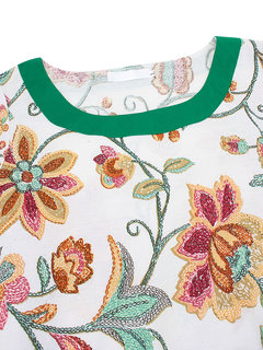 Ретро Асимметричный Цветочные Печатный квартал Женщины платье