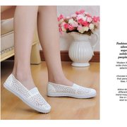 Mesh Lace Floral Soft Breathable Candy Color Slip On Flat Loafers