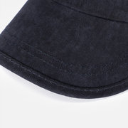 Men Vintage Washed Cotton Flat Cap Airhole Stitching Hat