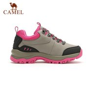 Camel Anti Skip Wearproof Color Match Lace Up Outdoor Sport Hiking Shoes