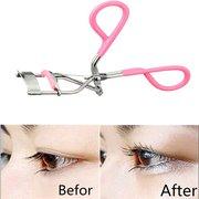 Розовый Ручка для закручивания ресниц Укладка нержавеющей стали Клип красоты макияж инструмент