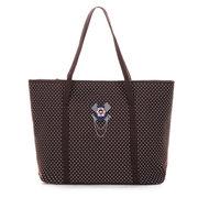 Women Cotton Star Dot Pattern Handbag Casual Shopping Bag