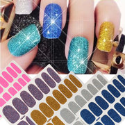 12 Colors Sand Crystal Scrub Nail Art Stickers Decal DIY Manicure Tips
