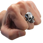 Smooth 316L Stainless Steel Skulls Rings