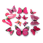 12Pcs DIY Stylish 3D Butterfly Art Sticker Decals Home Wall Room Wedding Party Decorations