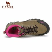 Camel Men Women Lover Suede Cow Leather Anti Skip Lace Up Outdoor Sport Hiking Shoes