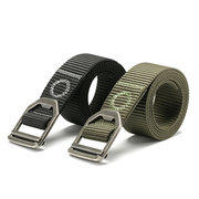 Men Nylon Alloy Buckle Belt Military Tactical Durable Pants Strip Waistband