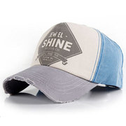 Men Women Curved Solid Washed Cotton Polo Sunshade Baseball Golf Ball Cap Hats
