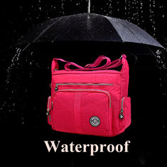 Women Nylon Waterproof Multi-pocket Zipper Shoulder Bags Crossbody Bags