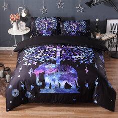 skull bedding set black color duvet cover sets queen king size 3pcs new beddings