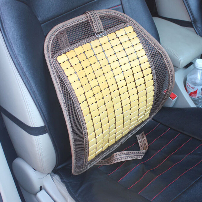 Summer Bamboo Car Seat Chair Back Cover Ventilate Cushion Pad Office Computer Cushions