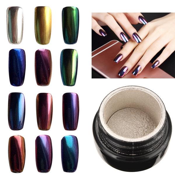 Magic Mirror Chrome Effect Metallic Powder Additive Pigment Nail Art ...