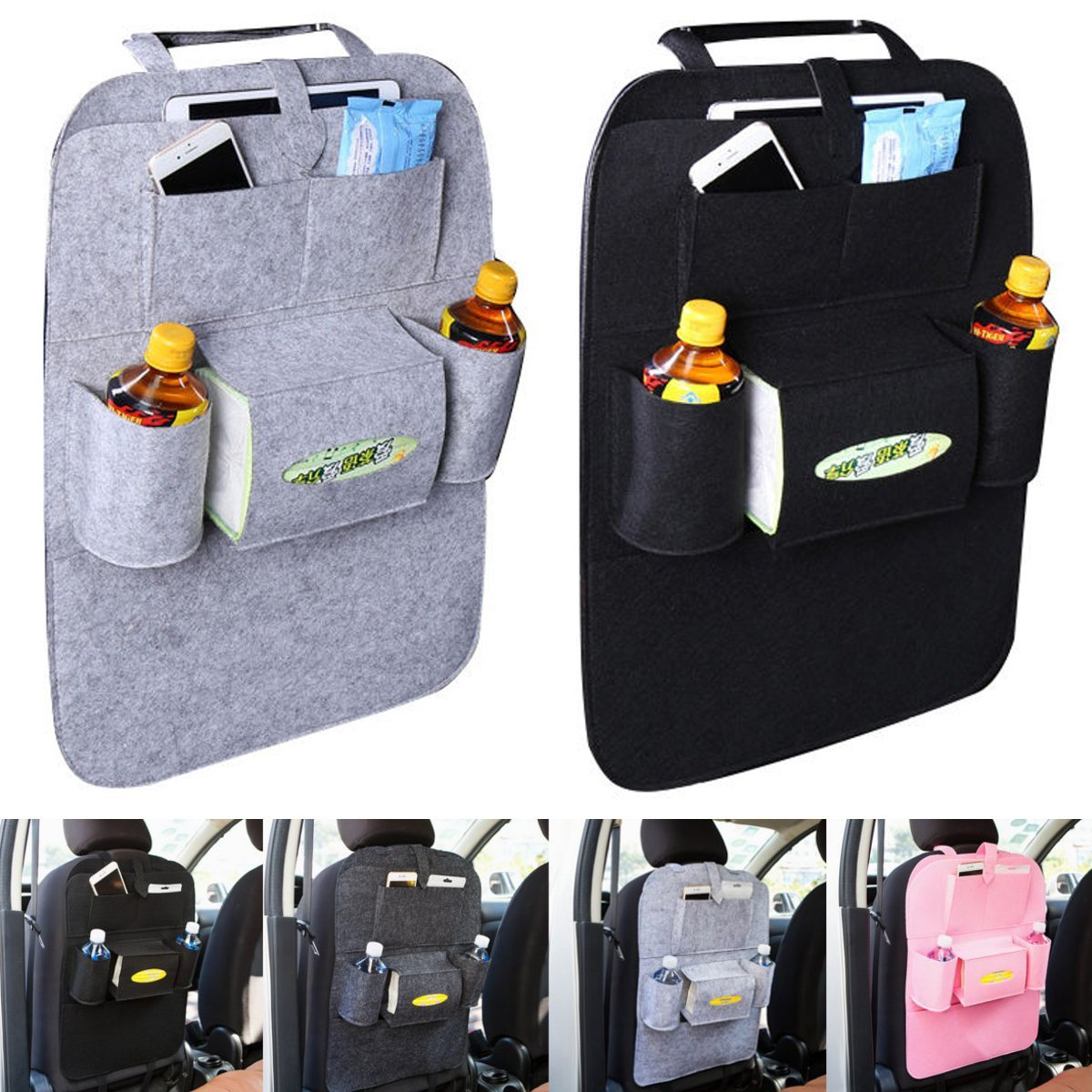 Universal Car Seat Back Multi Pocket Hanging Holder
