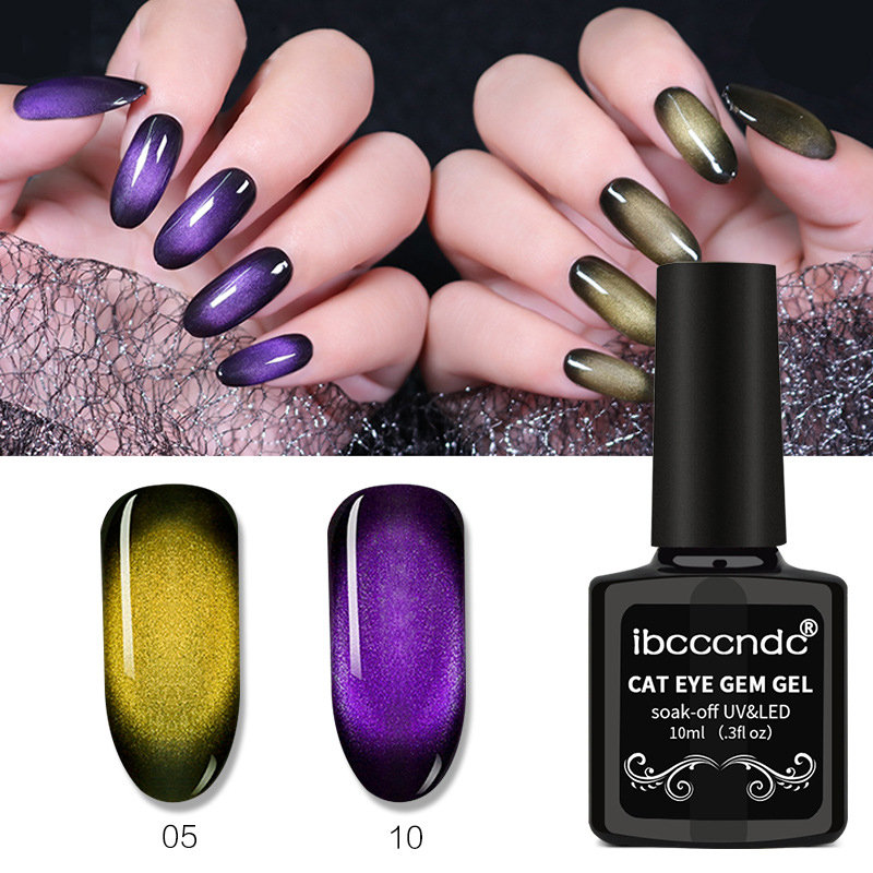 Gemstone Magnetic Nail Gel 3d Cat Eye Nail Gel Polish Long Lasting