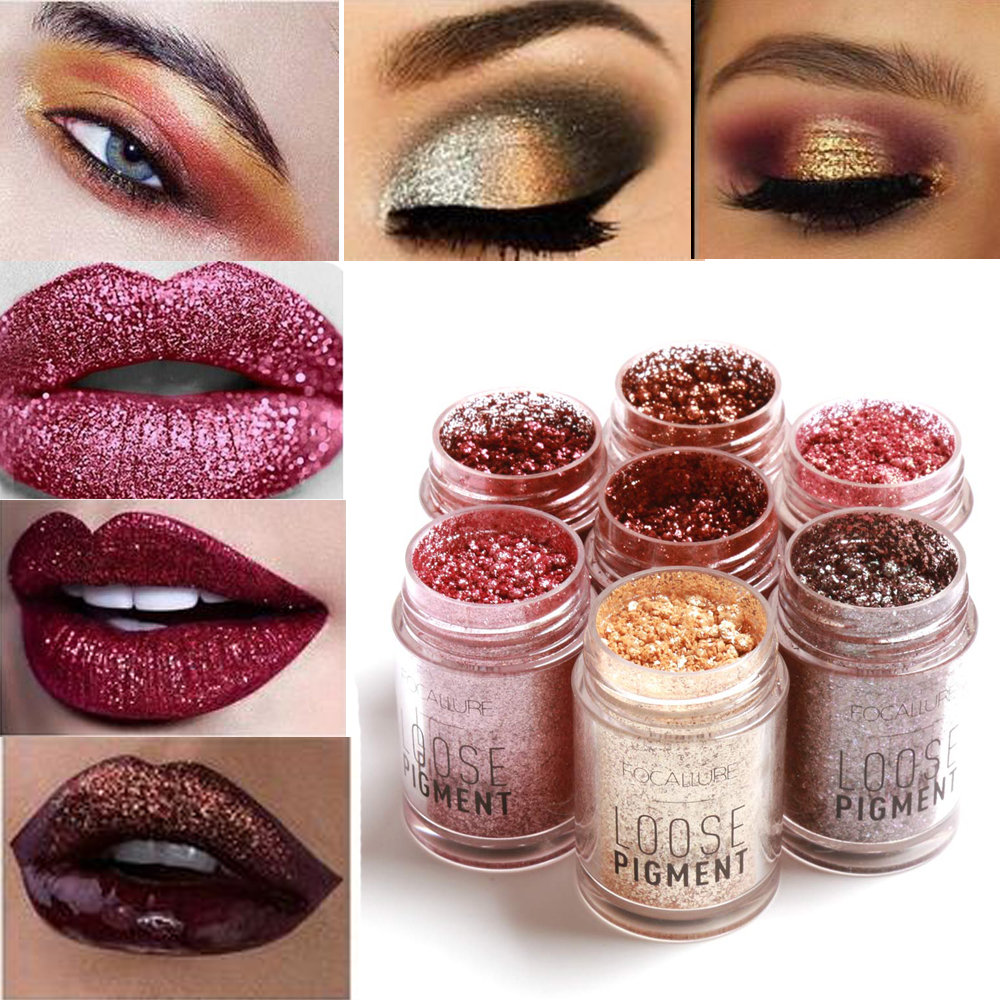FOCALLURE Eye Shadow Shimmer Metallic Pigment Powder ...