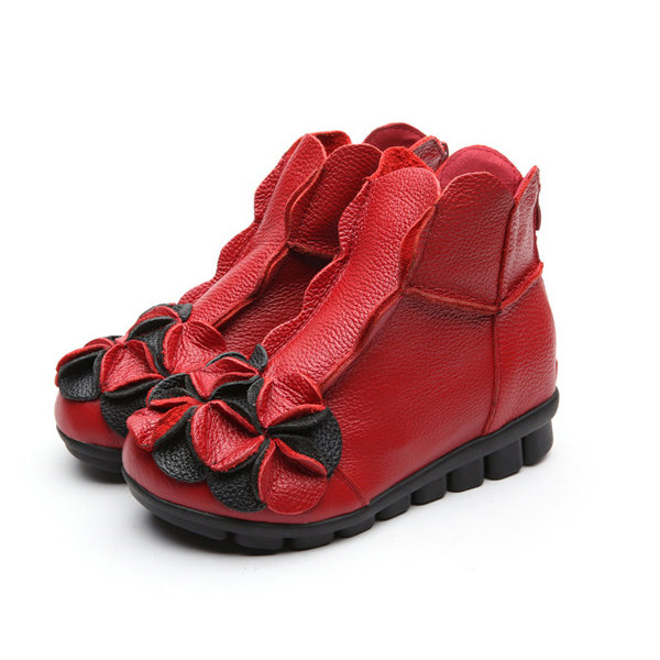 Ladies Red Walking Shoes