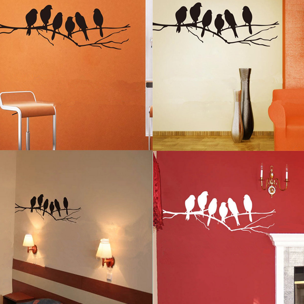 Removable birds branch tree wall stickers home art decals diy removable birds branch tree wall stickers home art decals diy living room decor amipublicfo Choice Image