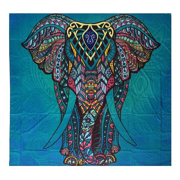Colourful Mandala Elephant Canvas Print