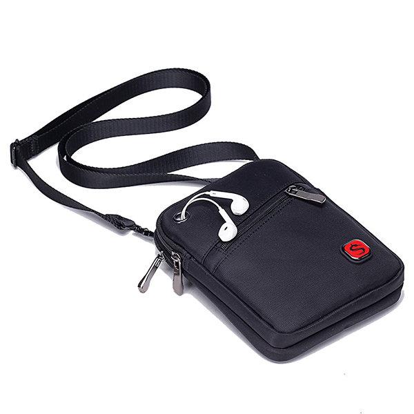 Oxford Crossbody bolso de viaje sólido hombres hombro bolsa bolsa de la honda bolsa de cintura
