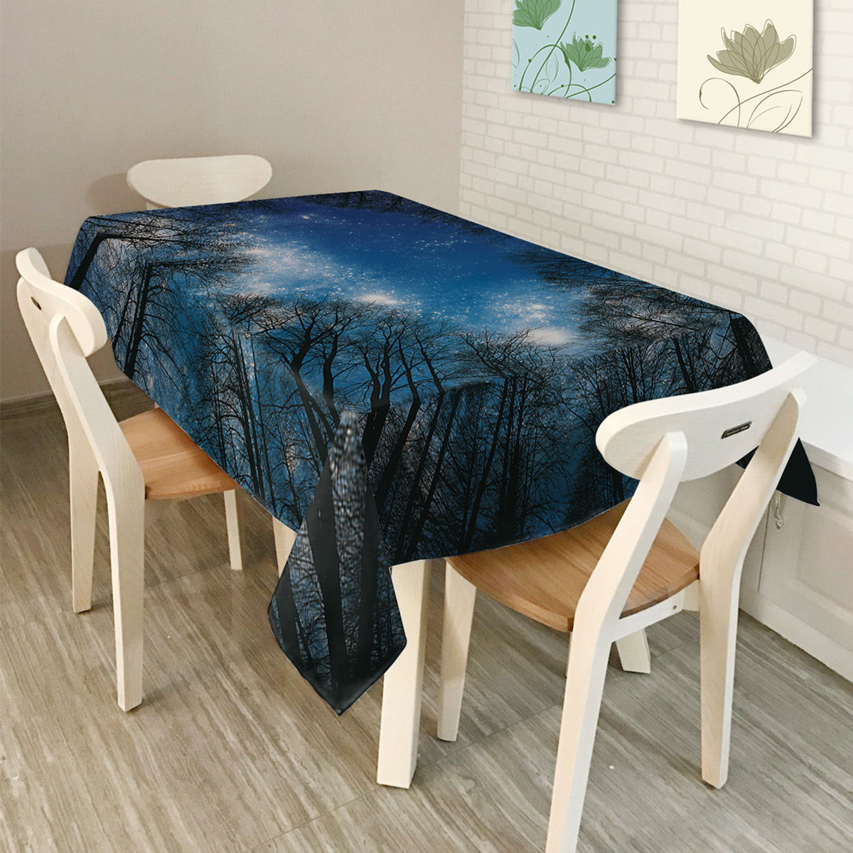 3D Tree Polyester Rectangle Tablecloths Dining Table Cover Cloth Party  Picnic