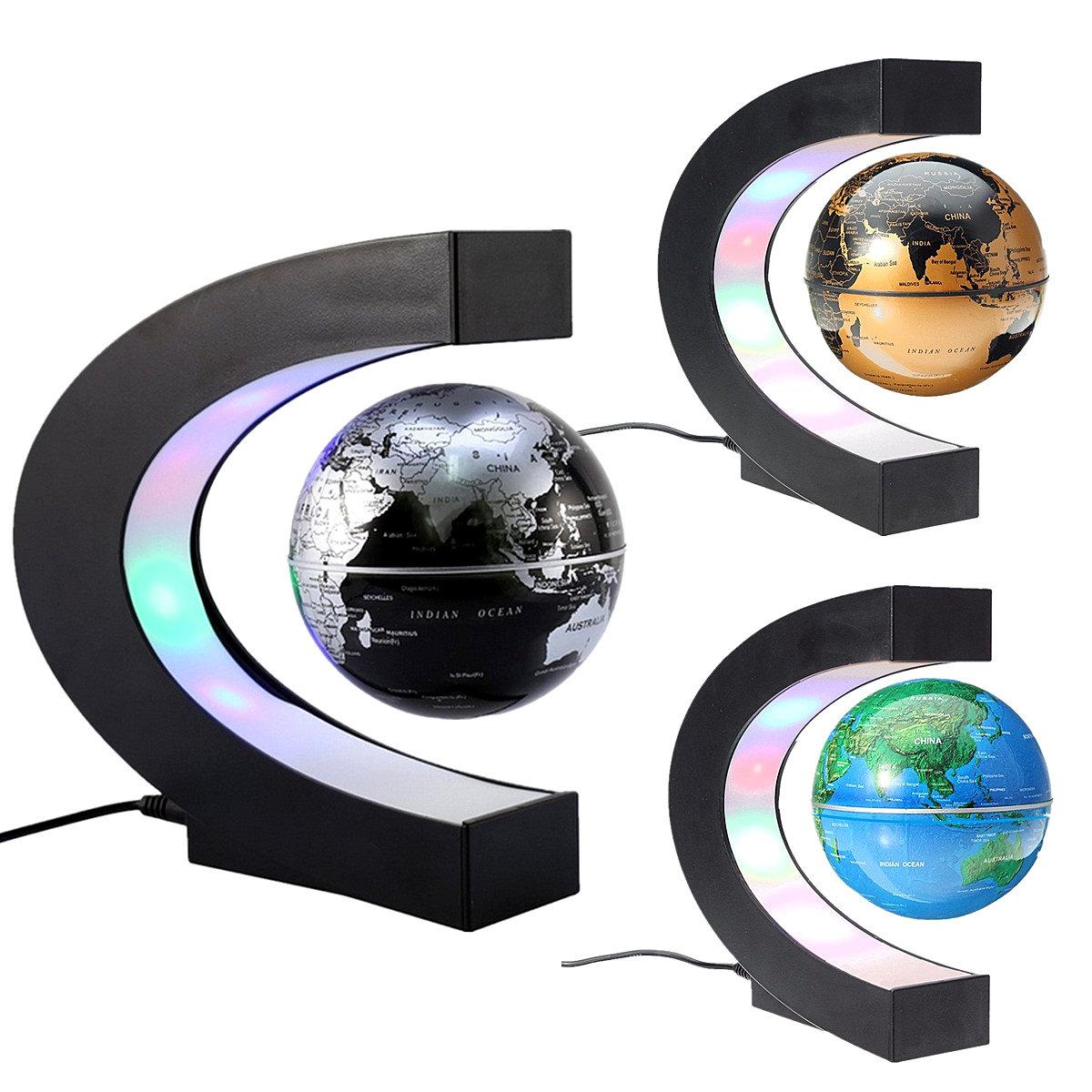 Led tellurion c shape magnetic levitation floating globe world map led tellurion c shape magnetic levitation floating globe world map charming science home decor gumiabroncs Gallery