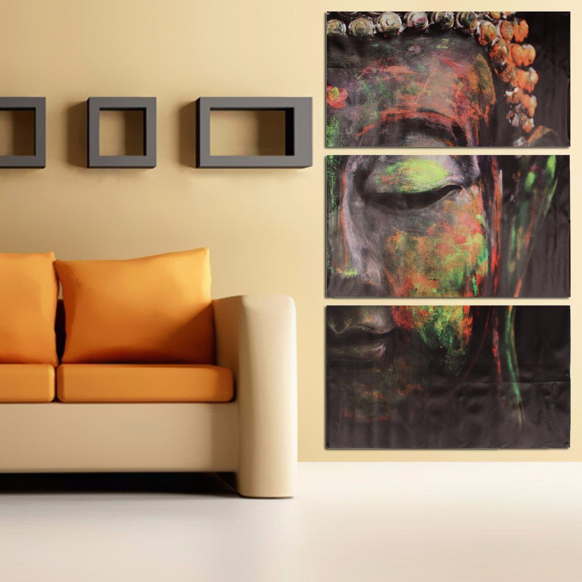 Attrayant 40x60cm Buddha Statues Oil Painting Unframed Abstract Art Canvas Wall Decor
