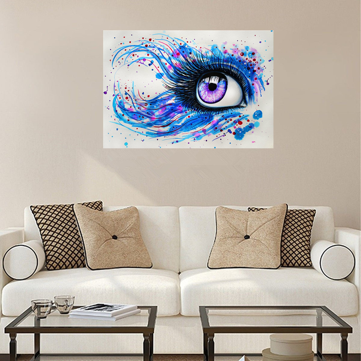 Multicolored Eye Paint By Numbers Kit Canvas Art Painting Living ...