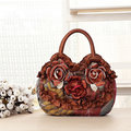 National Floral Polyester Handbag Daily Shopping Durable Handbag For Women